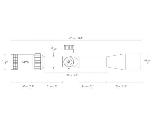 HAWKE Sidewinder 30 SF 6,5-20x42 (20x Half Mil Dot)