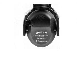 DEBEN chrániče sluchu - aktívne slim black - elektronické