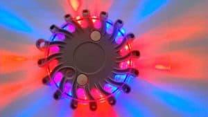 Výstražné svietidlo Mix (červená a Modrá) 1ks