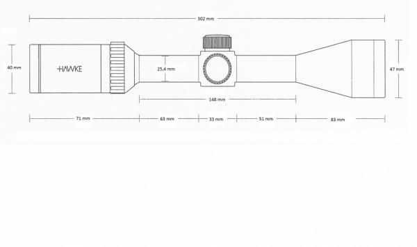 Vantage 4x32 AO (Mil Dot)