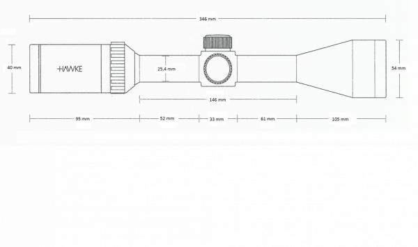 Vantage 4-12x40 AO (Mil Dot)
