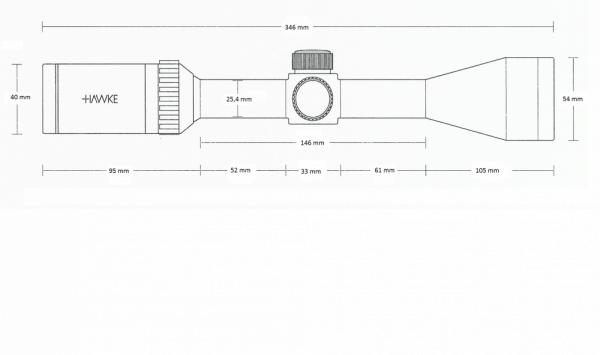 Vantage IR 4-12x40 AO (Rimfire .22 WMR)