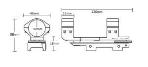 Weaver Adjustable Match Mount /1pc/ 30mm High