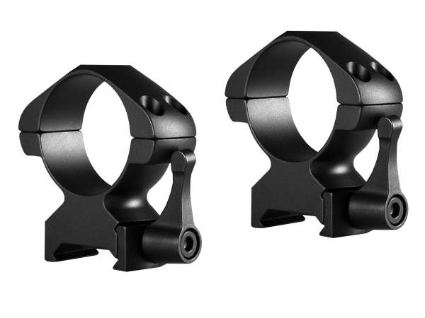 Precision Steel Ring Mounts Weaver (2pcs /30mm High, With Lever)