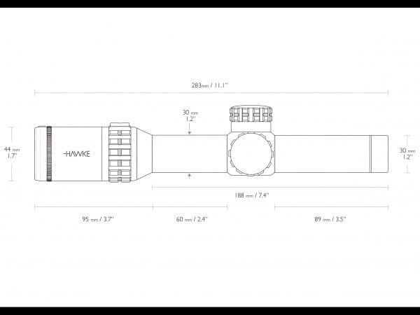 HAWKE Frontier 30 FFP 3-15x50 SF IR (FFP Mil Pro 15x)