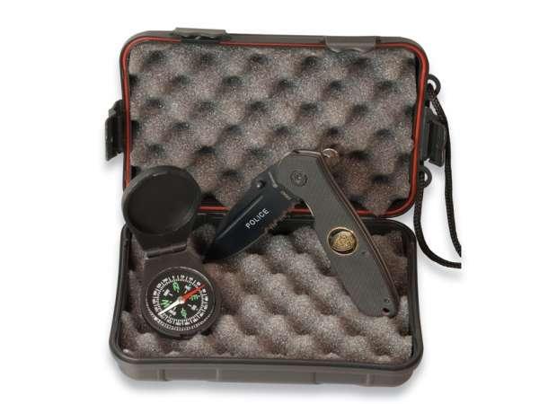 Martinez Albainox Set: Box + Compass 33142 + Pocket Knife 19042.