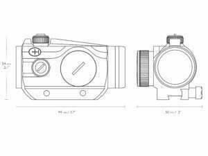 HAWKE Vantage RD 1x25 - 9-11mm (3MOA Dot)