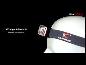 KLARUS Čelovka H1A Aluminum (500lm) + 14500BAT-800 (3,7V 14500 800mAh).