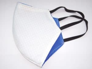 Dvojvrstvová bavlnená tvárová maska s uhlíkovým vláknom - biela