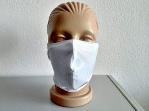Dvojvrstvová bavlnená tvárová maska s uhlíkovým vláknom - biela (Kópia)