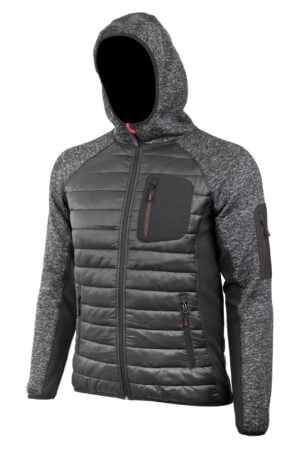 PROMACHER HYBRIS Jacket black/grey - pánska bunda