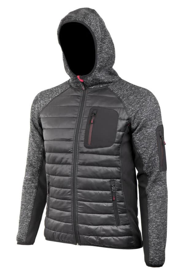 PROMACHER HYBRIS Jacket black/grey - pánska bunda