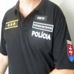 Polokošela KR POLÍCIA čierne