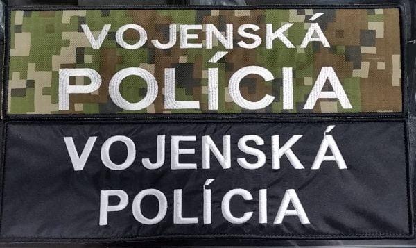 Nášivka VOJENSKÁ POLÍCIA 35x10cm so suchým zipsom