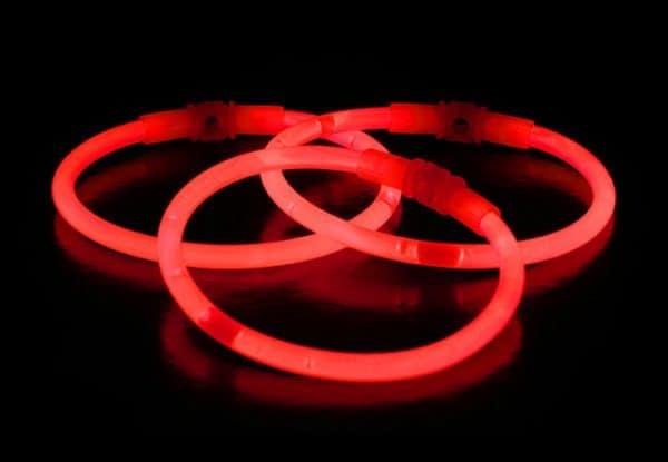 Chemické svetlo náramok - červený