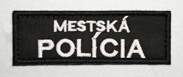 Nášivka MESTSKÁ POLÍCIA 9x3cm