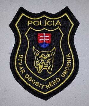 Nášivka Polícia UOU  so suchym zipsom