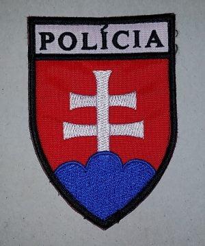 Nášivka na suchý zips Policia SR znak 9,5cm