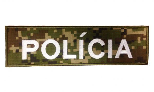 Nášivka POLÍCIA maskáč 35x10cm so suchým zipso