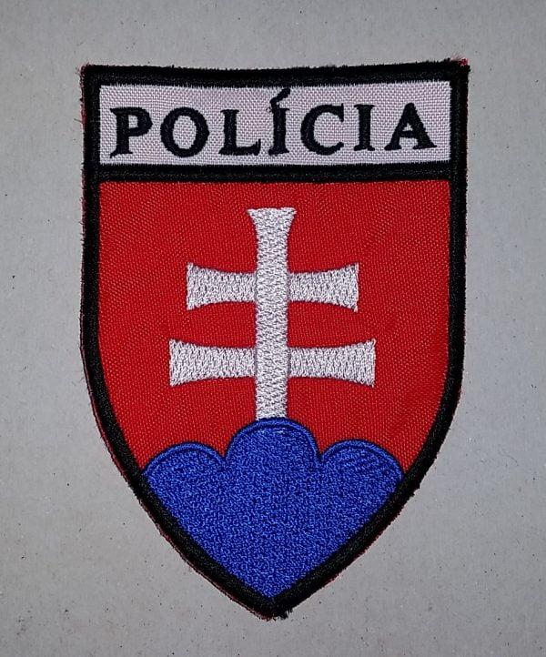 Nášivka Policia znak SR 9,5cm bez suchého zipsu
