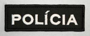 Nášivka POLÍCIA 35x10 veľká so such. zipsom