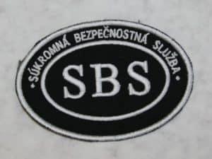 Nášivka SBS ovál malá so SZ