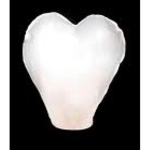 Lampion šťastia srdce biele