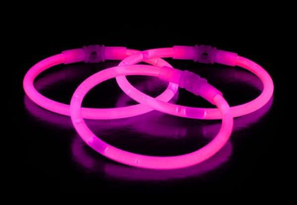 Chemické svetlo náramok -  ružový